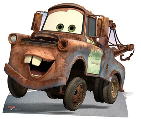 Cars 2 Mater Image by Mater From Disney Pixar Cars Lifesize Cardboard Cutout