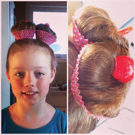 Wacky Hair Day 1 High Pigtails 2 Back Comb 3 Loose Bun