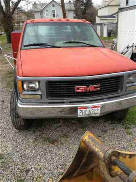 best car repair manuals 1995 gmc 3500 transmission control purchase used 1995 gmc 3500 4x4 dually crew cab utility bed no reserve nr low miles in