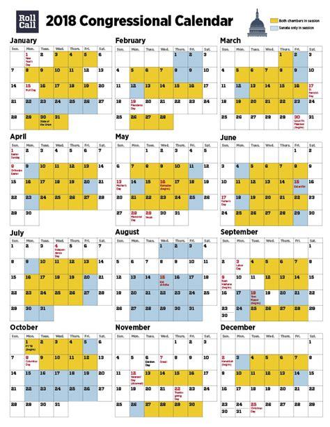 congressional calendar senators plan work days house