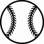 Baseball Ball Clipart Icon Sport Svg Outline
