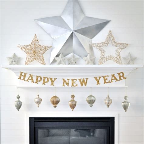 new year home decor diy new years eve glitter banner by holly jones project home decor decorative holiday
