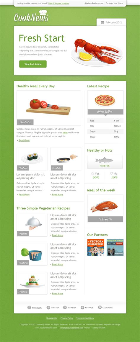 Email Templates Free Gmail by Green Email Template Free Mail Templates