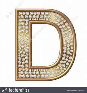 letters and numbers diamond character d stock With diamond letter d
