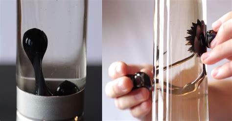 bubbling ferrofluid light works   magnetized