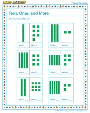 tens ones and more free printable place value