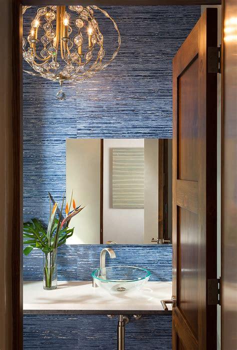 toronto navy blue wallpaper  walls powder room