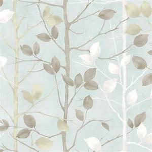 Arthouse Woodland Duck Egg Wallpaper 630700 Deal at Wilko
