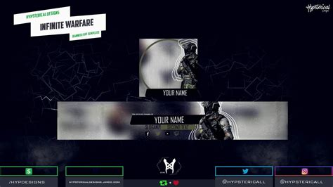 Banner Template Call Of Duty Infinite Warfare by Youtube Banner Template Call Of Duty Infinite Warfare