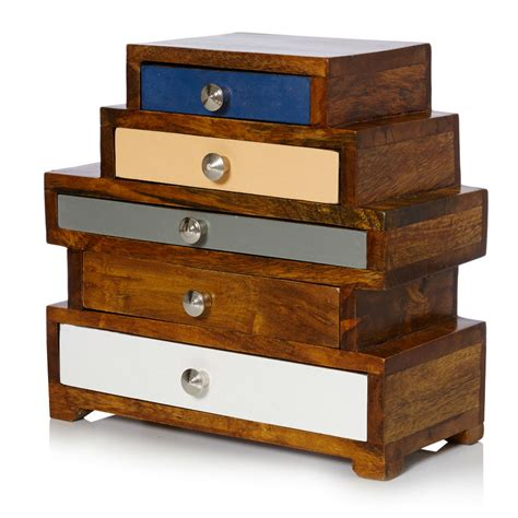 wooden box with drawers maggie five drawer wooden jewellery box oliver bonas