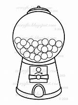 Machine Gumball Coloring Going Gum Bubble Shaker sketch template