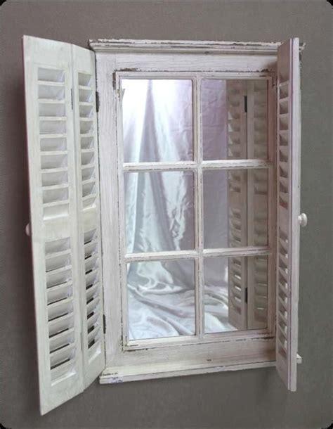 shabby chic window mirror french mirror wall ornate chic shabby shutter shutters new white window mirrors newstead