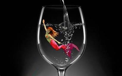 Mermaid Glass Desktop Wallpapers Scales 4k Background