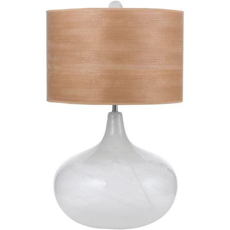 wood veneer table l shade af lighting horizon playa 27 in blown glass table l