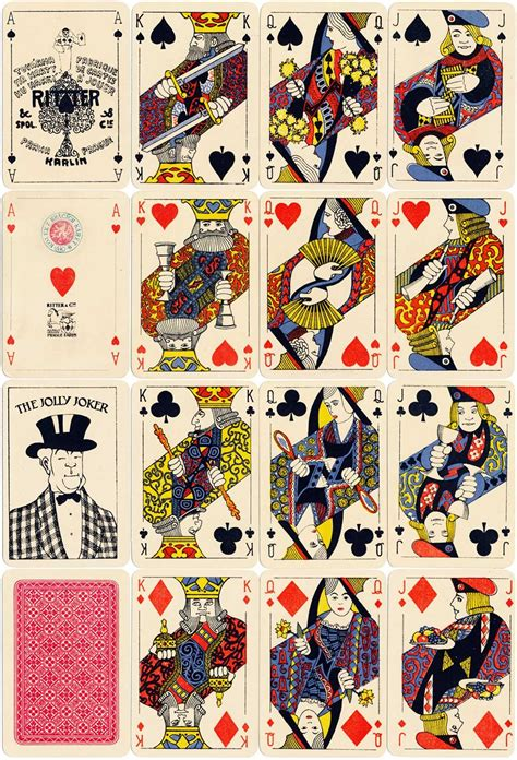 ritter cie   images playing cards design