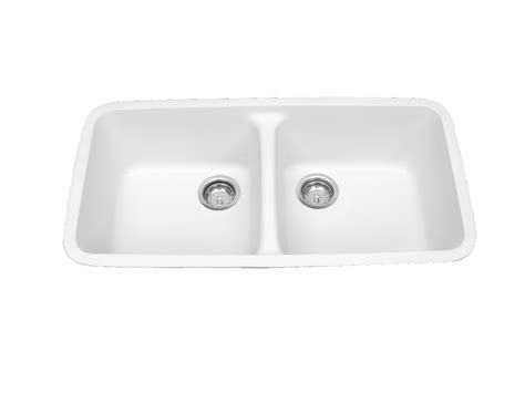 solid surface kitchen sinks meridian solid surface 100 equal double bowl integral
