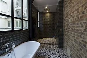douche a l39italienne en carreau de ciment With salle de bain carreau de ciment