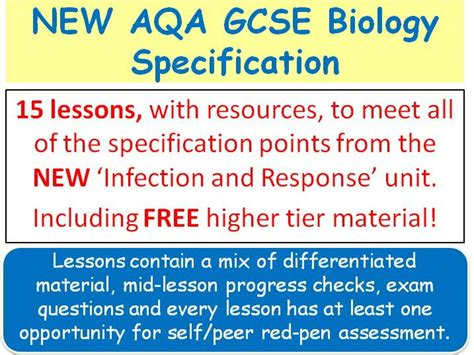 New Aqa Gcse Biology  'infection & Response' Lessons By Swiftscience  Teaching Resources Tes