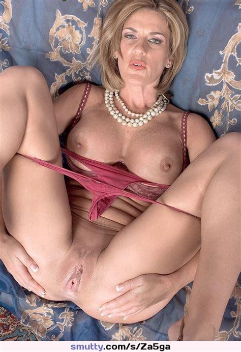 Blonde Milf Cougar Lingerie Framedboobs Pantiesdown