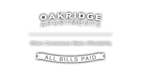 oakridge apartments waco  bills paid