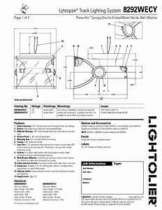 Lytespan Track Lighting System 8292wecy Manuals