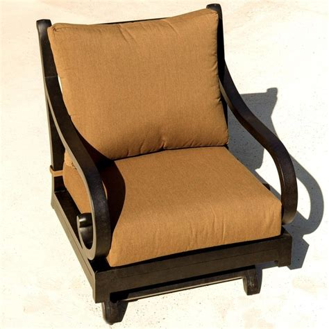 avondale cast aluminum rocking patio club chair modern