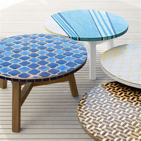 Mosaic Tile Outdoor Table by Mosaic Tiled Coffee Table Decorator Print Driftwood