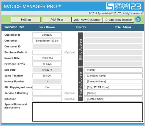 invoice manager pro ultimate invoicing software  excel