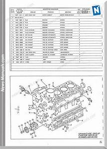 Kubota Engine V1902 Parts Manuals
