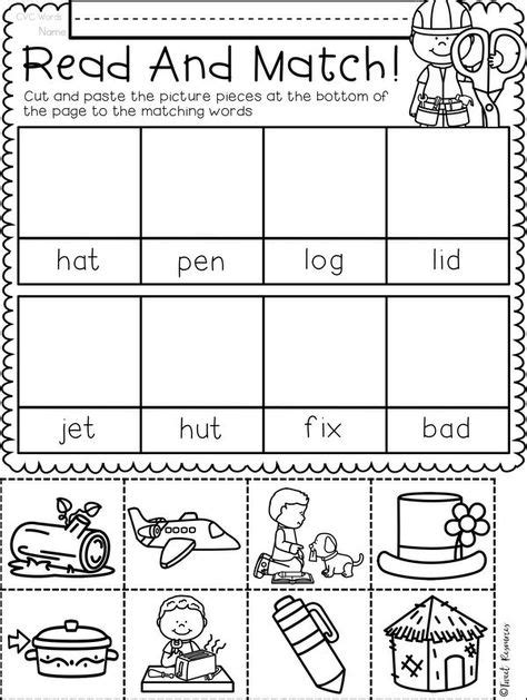 cvc images cvc words kindergarten reading phonics