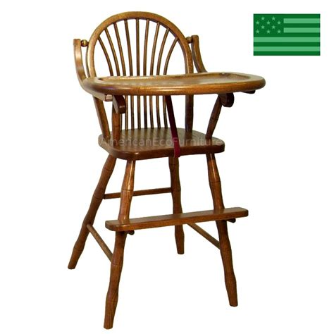 amish sheaf baby high chair solid wood handcrafted
