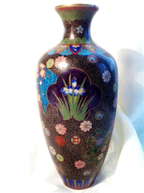 Japan Bid Antique Japanese Big Kyoto Cloisonne Vase Gold Wire