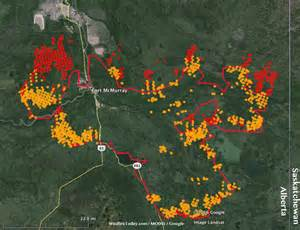 Fire Update Fort McMurray Map