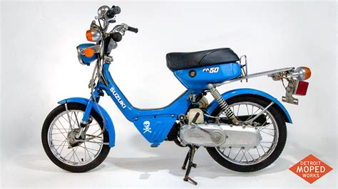 Fa50 Suzuki by 1985 Suzuki Fa50 Shuttle Blue Kickstart Noped Sold