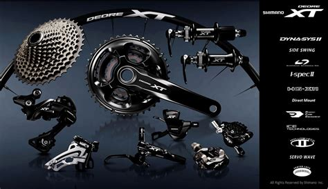 shimano range of gears look shimano xt m8000 bike magazine
