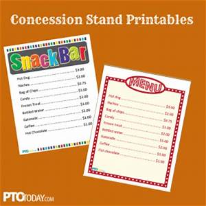 family events pto today pto today blog With concession stand menu template