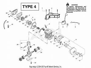 Poulan 2775 Gas Saw Type 4 Parts Diagram For Engine Assembly Type 4