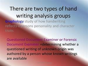 safety paper work hand writing what are the With questioned document graphology