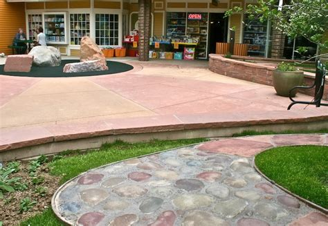 stained concrete colored concrete patio sealers patio