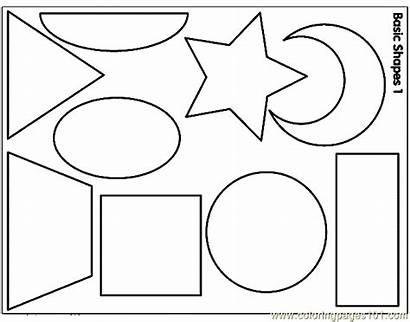 Shapes Coloring Shape Pages Printable Coloringpages101