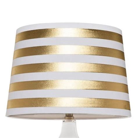 Stripe Lamp Shade threshold gold stripe lamp shade