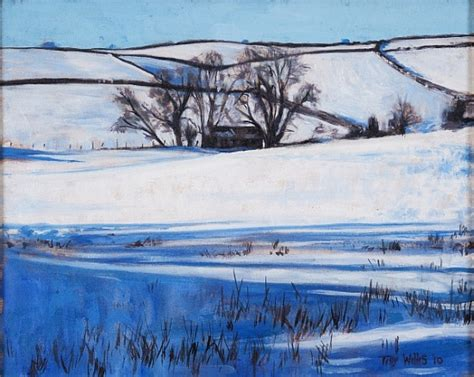 Snow Shadows  Tilly Willis As Art Print Or Hand Painted Oil