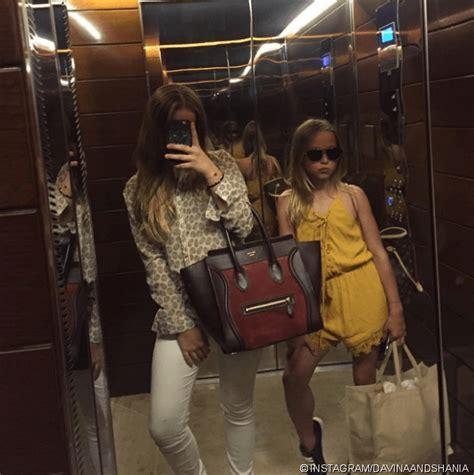 davina und shania geiss samt luxus handtaschen zu