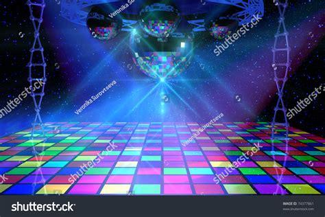 disco ball floor l colorful dance floor several shining mirror stock