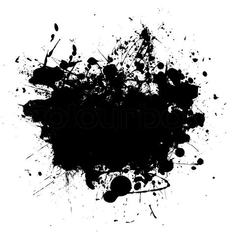 Abstract Black Ink by Abstract Black Ink Splat Design With Room To Add Your Own