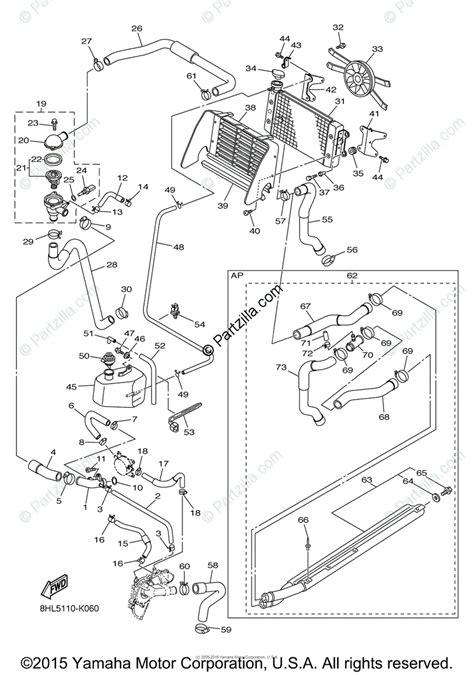 yamaha snowmobile 2011 oem parts diagram for radiator hose partzilla