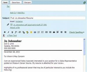 sample email letter etiquette with attachments perfect With how to send cv and cover letter by email