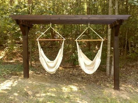 Hammock Chair Stand Diy by Hammock Chair Stand If I Could Build The Pergola My