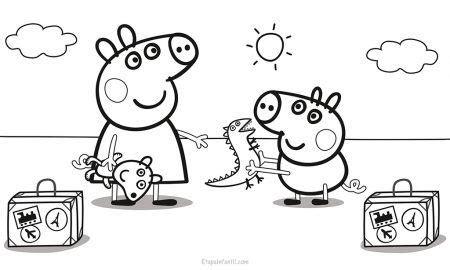 dibujos  colorear de peppa pig dibujo de peppa pig