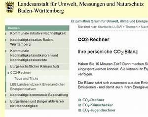 Carbon Footprint Berechnen : service das lubw bietet co2 rechner f r alle altersgruppen aktuelles ber klimaktiv klimaktiv ~ Themetempest.com Abrechnung